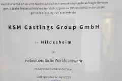 Urkunde KSM mail