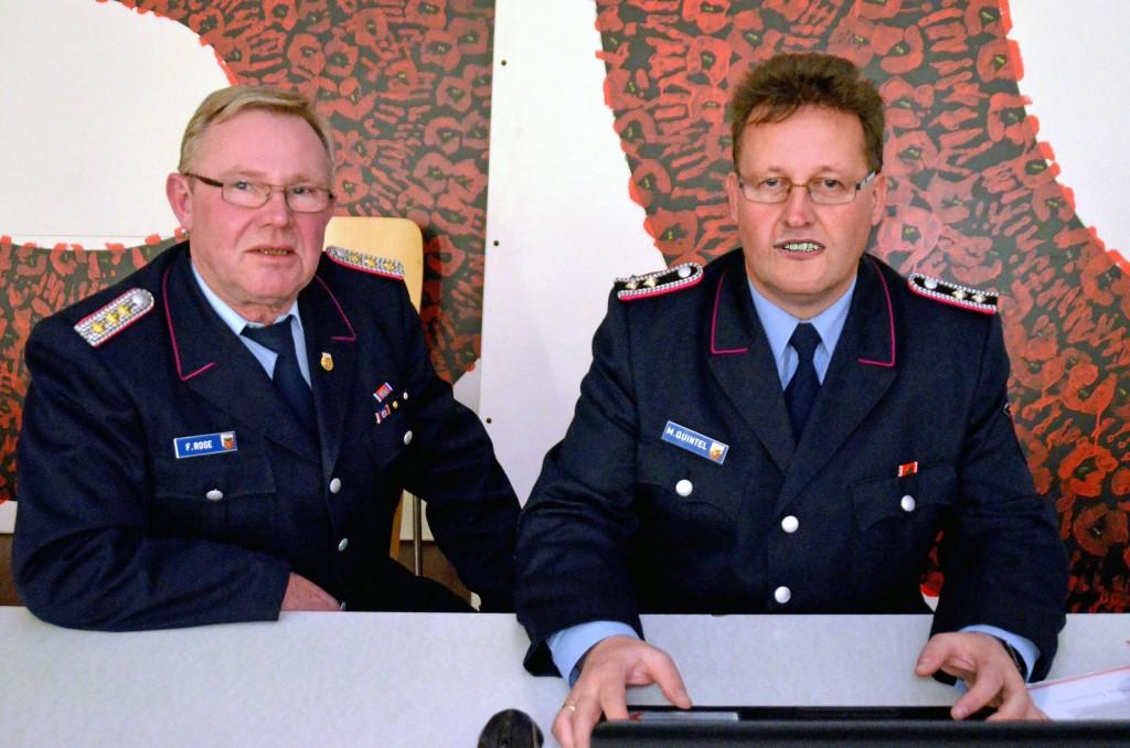 Friedrich Rose übergibt Amt des Kreis-Internetbeauftragten an Kamerad Matthias Quintel, Alfeld